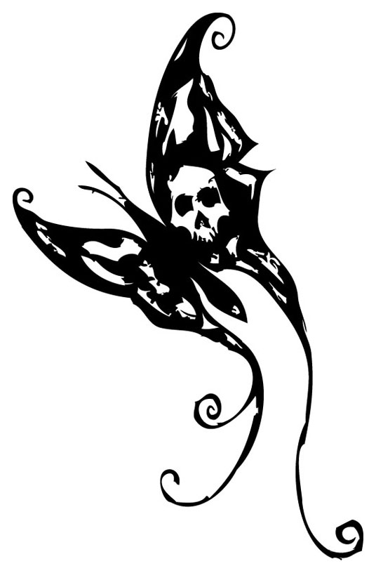 16a45d0c0 Black Gothic Butterfly Tattoo Stencil By Hexxxer