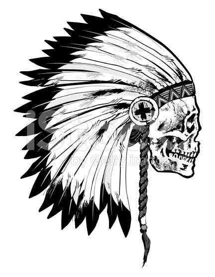 44 indian chief skull head tattoos