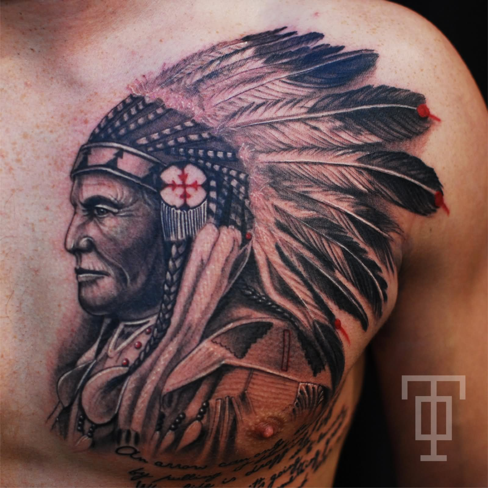 12 indian native tattoos on chest for Indian ink tattoo