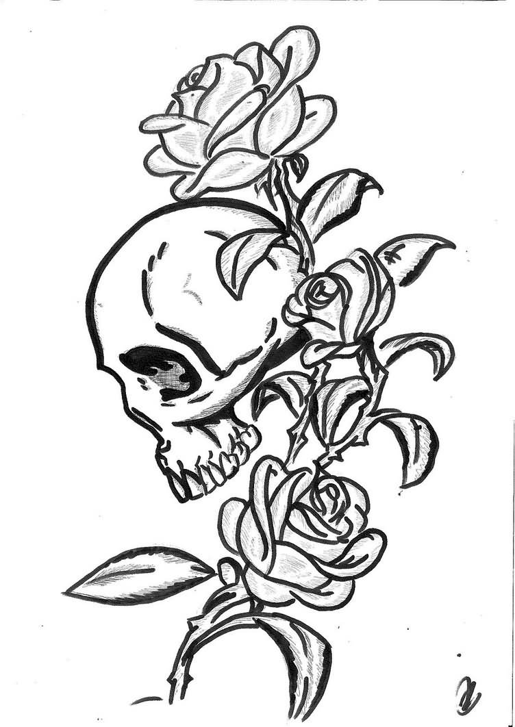 35 gothic skull tattoos. Black Bedroom Furniture Sets. Home Design Ideas