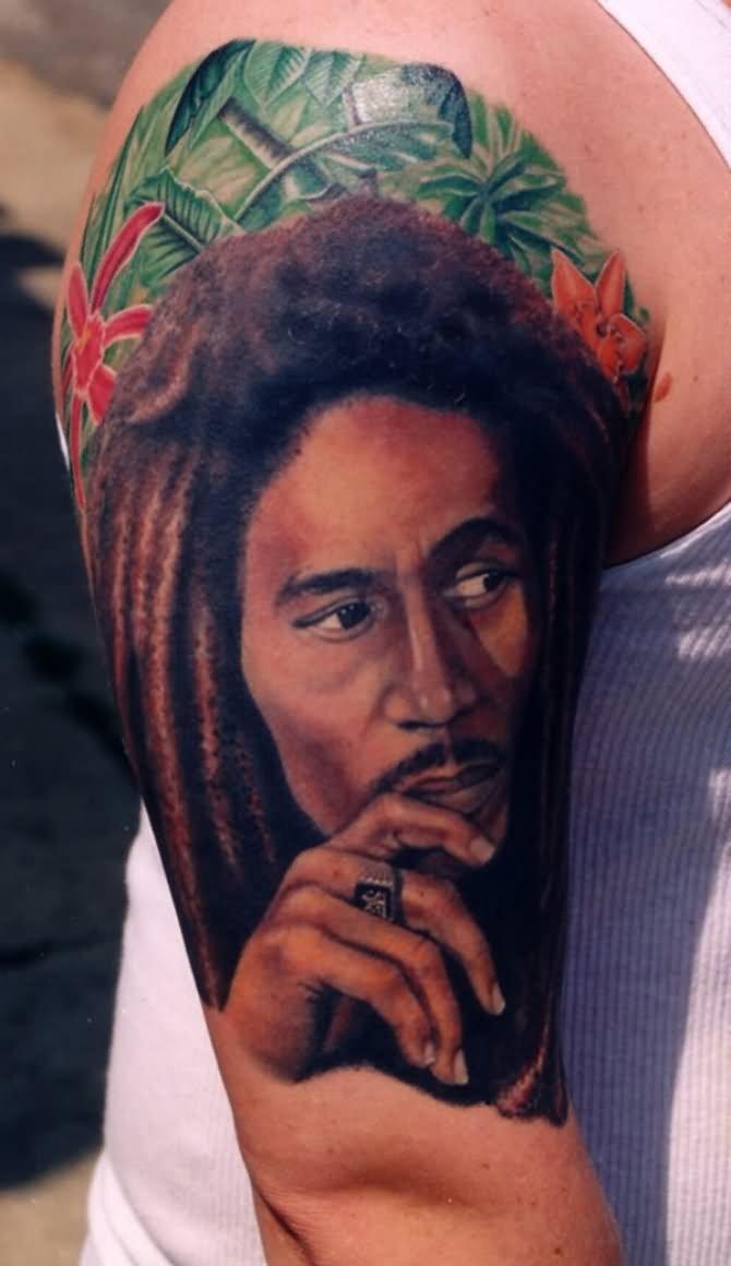 51 amazing bob marley tattoos for Bob marley tattoo