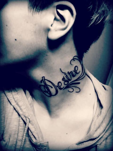 45 Words Neck Tattoos