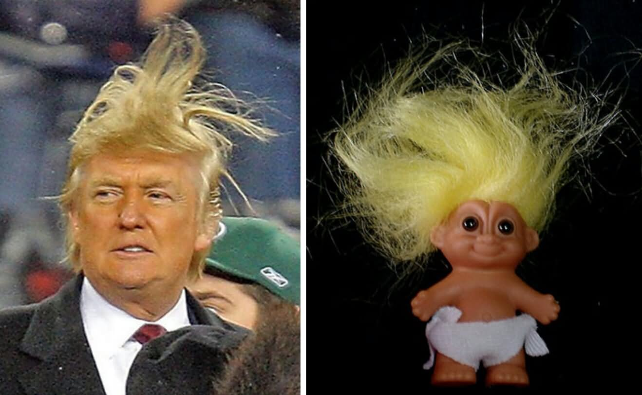 Doll-Hair-Looks-Like-Donald-Trump-Hair-Funny-Image - Weird hairstyles... - Weird and Extreme