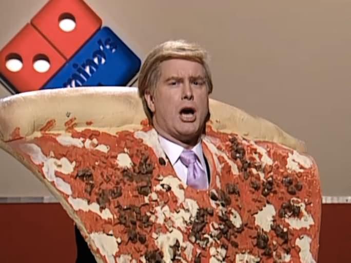 Donald Trump In Domino's Pizza Costume Funny Picture For Whatsapp