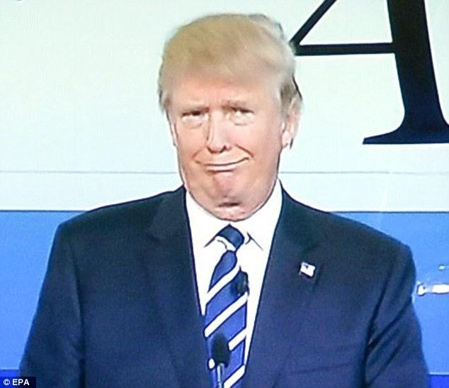 Donald Trump Making Sad Face Funny Picture