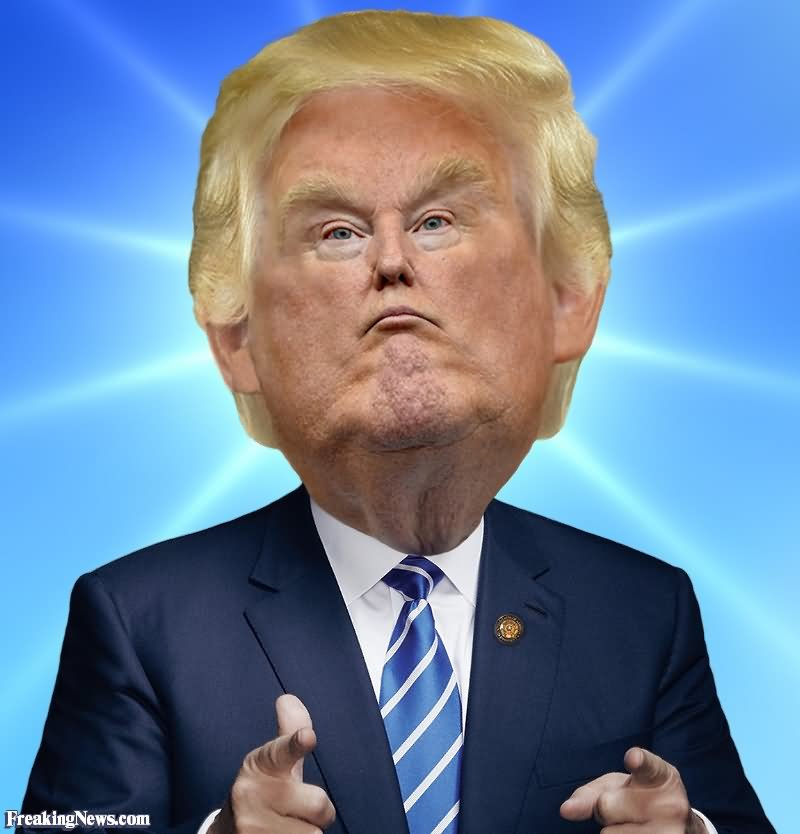 Donald Trump With A Small Face Funny Picture