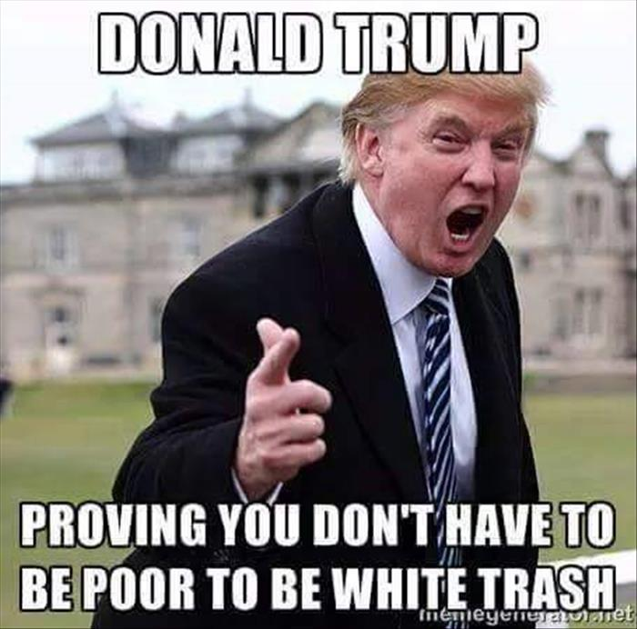 [Funny-Donald-Trump-Meme-Proving-You-Dont-Have-To-Be-Poor-To-Be-White-Trash-Picture]