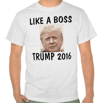 Funny Donald Trump On T-shirt Picture
