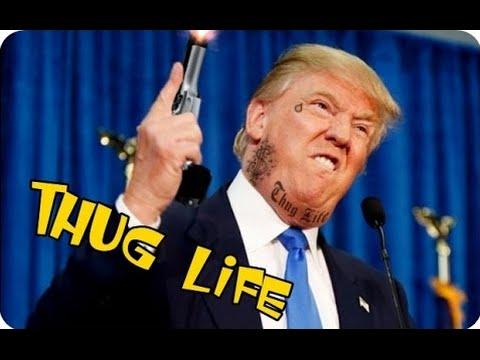 Funny Donald Trump Thugh Life Picture