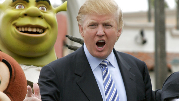 Funny Donald Trump With Open Mouth Photo
