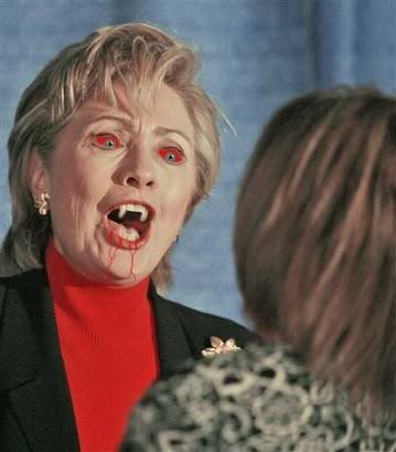 Funny Dracula Face Hillary Clinton Photoshop Photo