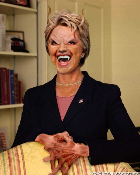 Funny Dracula Hillary Clinton Face Photoshop Image