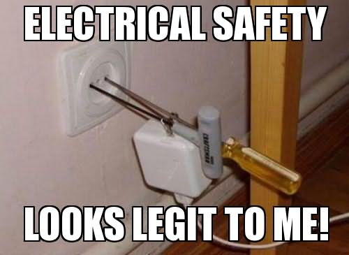 Funny Electrical Safety Meme Picture