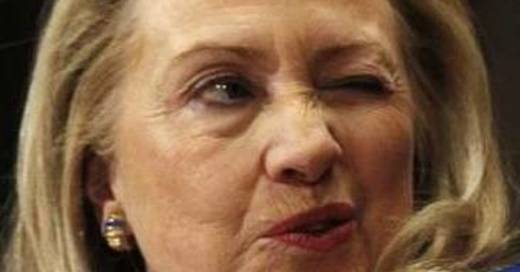 Funny Eyes Twinkling Hillary Clinton Picture