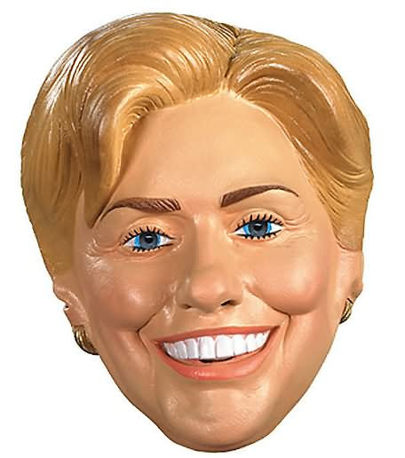 Funny Hillary Clinton Mask Picture For Whatsapp