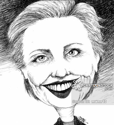 Funny Hillary Clinton Sketch Cartoon Picture