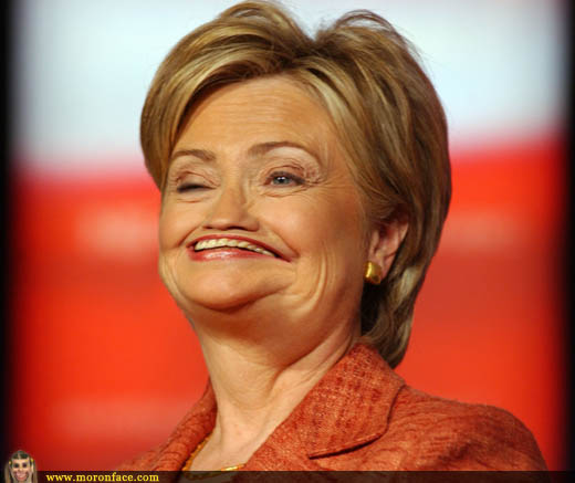 Funny Hillary Clinton Smiling Photoshop Face Image