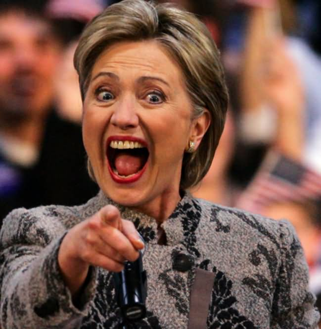Funny Hillary Clinton Surprised Face Photo
