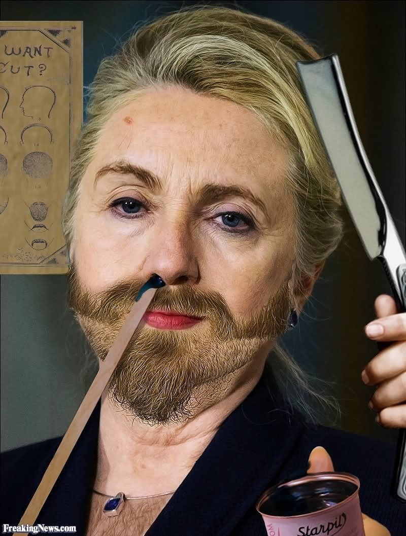 Funny Hillary Clinton Using Hair Remover Picture For Whatsapp