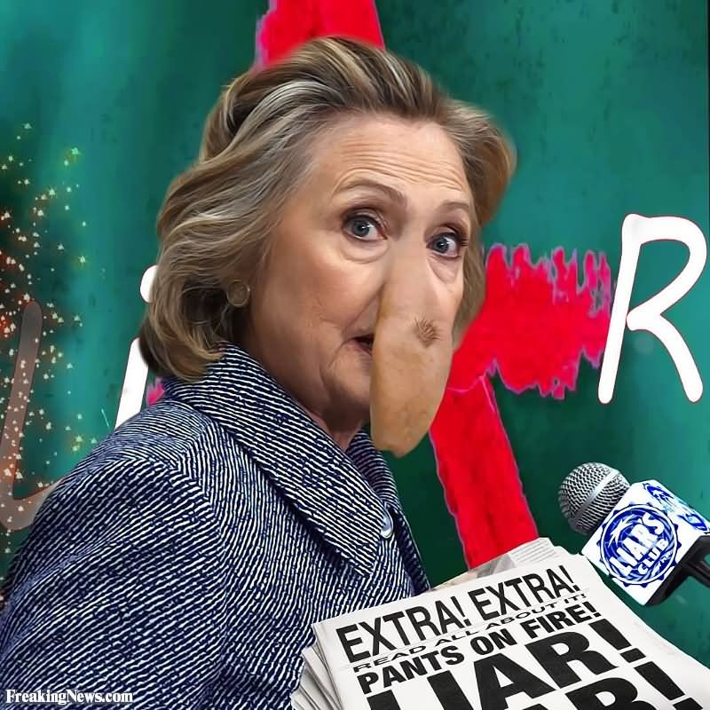 Funny Hillary Clinton With Weird Long Nose Photoshop Image