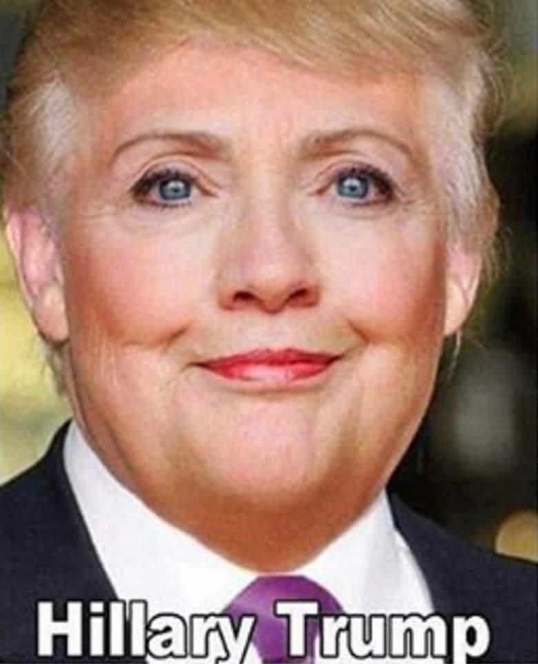 Funny Hillary Trump Picture