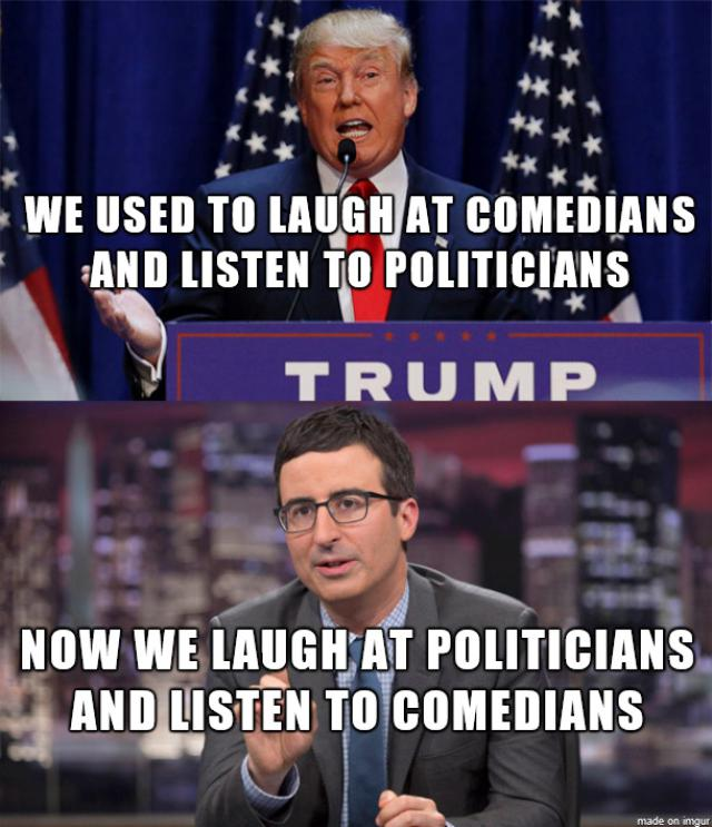 Funny Political Meme We Used To Laugh At Comedians And Listen To Politicians Picture 30 most funniest political memes that will make you laugh,Funny Political Memes
