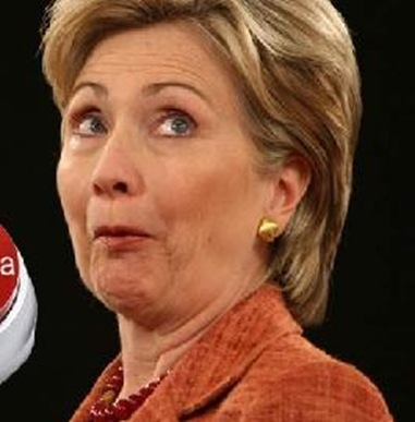 Funny Sad Face Hillary Clinton Picture