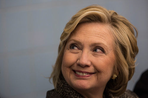 Funny Weird Smiley Face Hillary Clinton Image
