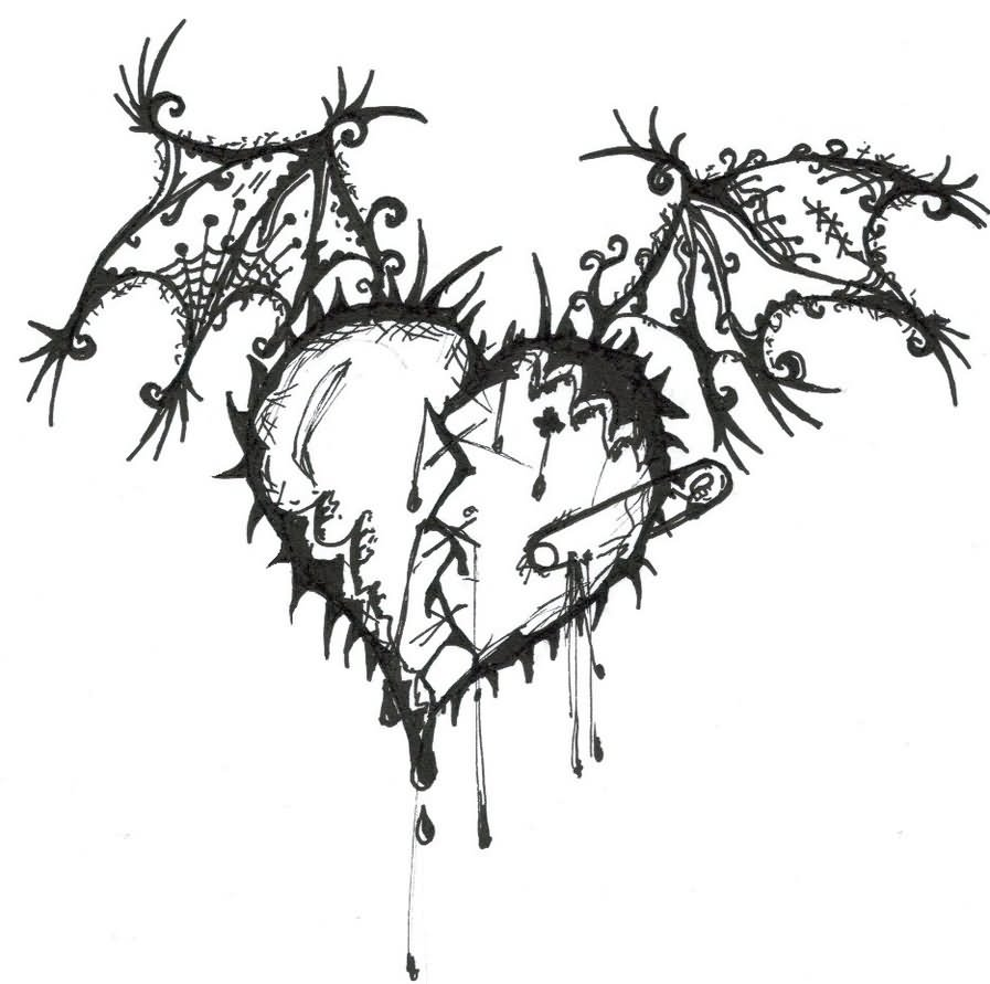 Gothic Designs 36+ gothic heart tattoo designs