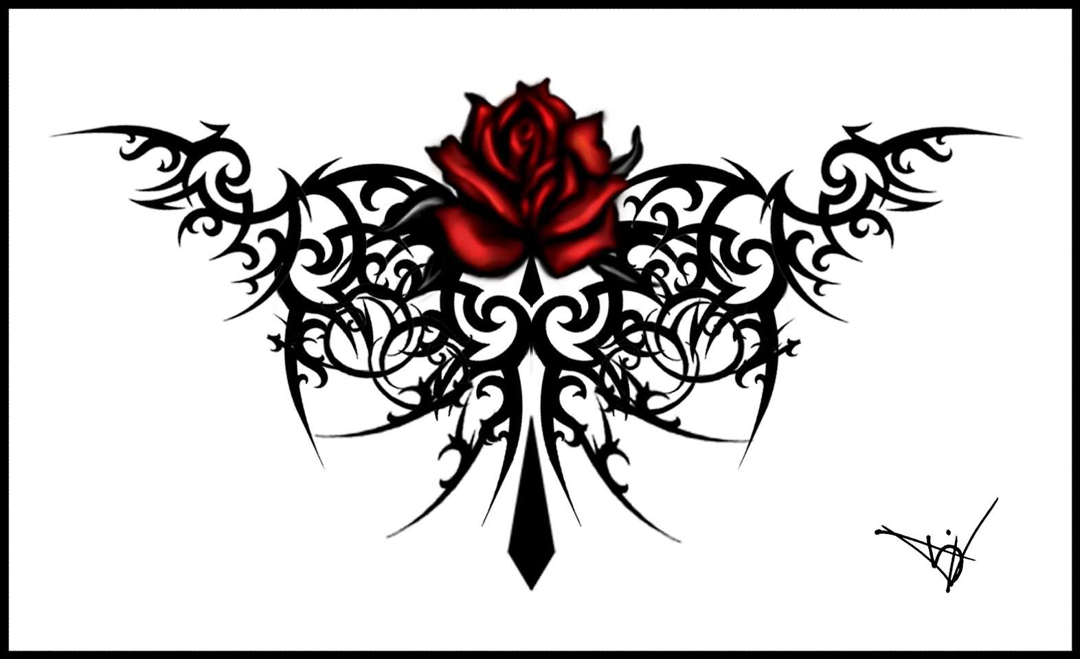 30 best gothic tattoo designs. Black Bedroom Furniture Sets. Home Design Ideas