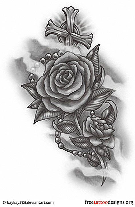 24 gothic rose tattoos and design ideas. Black Bedroom Furniture Sets. Home Design Ideas