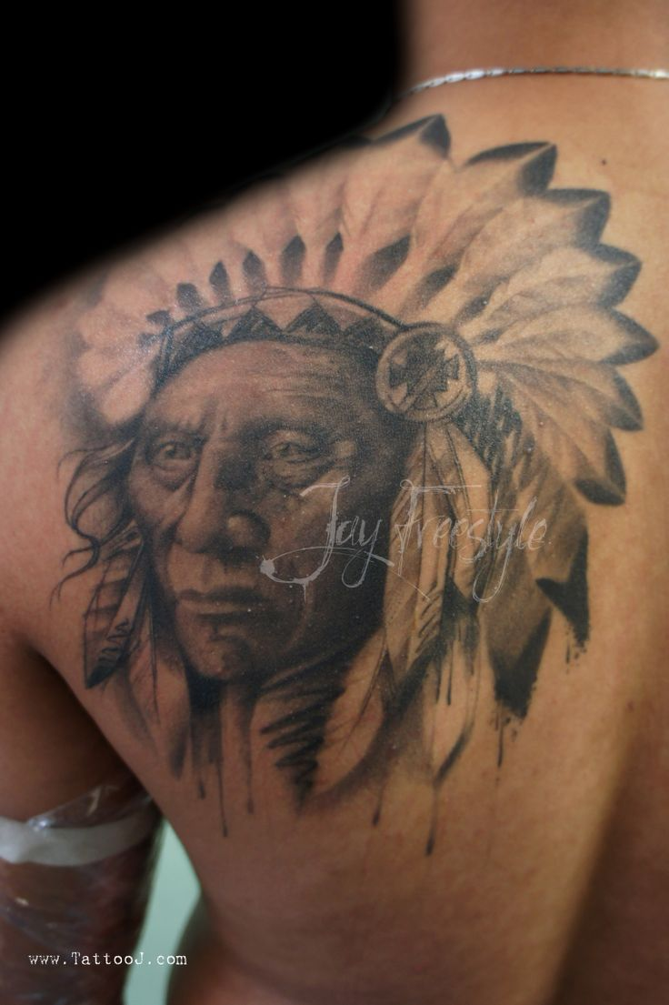 26 indian chief tattoos and designs ideas. Black Bedroom Furniture Sets. Home Design Ideas