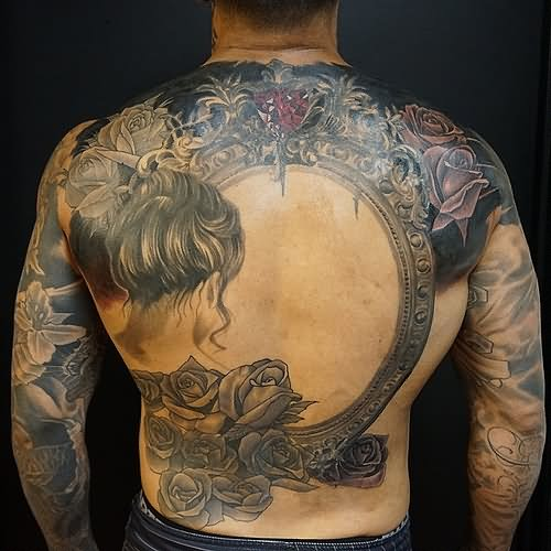 25+ Victorian Hand Mirror Tattoo  Victorian Flower Tattoo