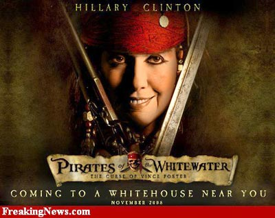 Hillary Clinton As Pirates Funny Picture