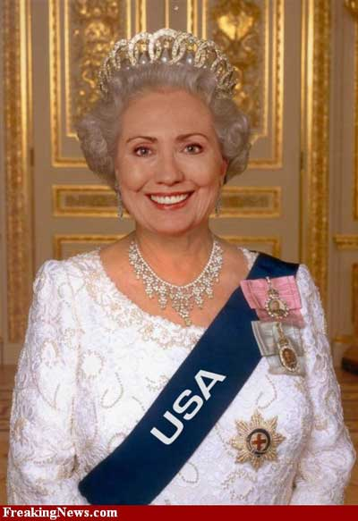 Hillary Clinton As Queen Elizabeth Funny Picture