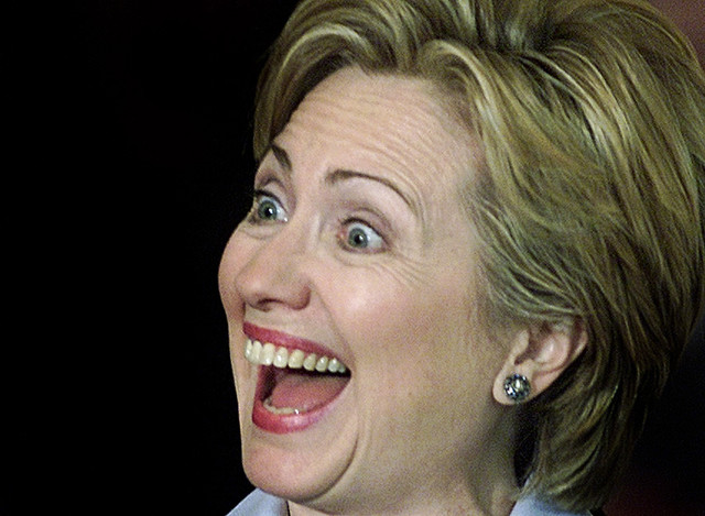 Hillary Clinton Funny Laughing Face Image