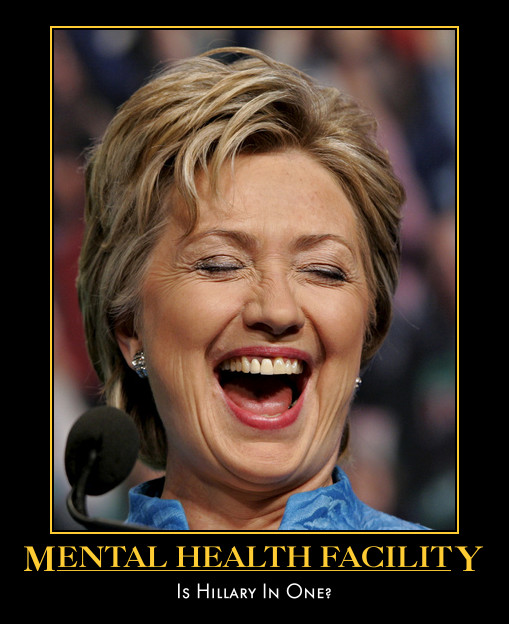 Hillary Clinton Loud Laughing Face Funny Picture