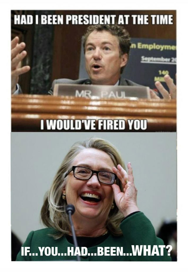 Hillary Clinton Vs Rand Paul Funny Meme Image