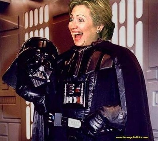 Hillary Clinton With Darth Vader Costumes Very Funny Picture For Facebook