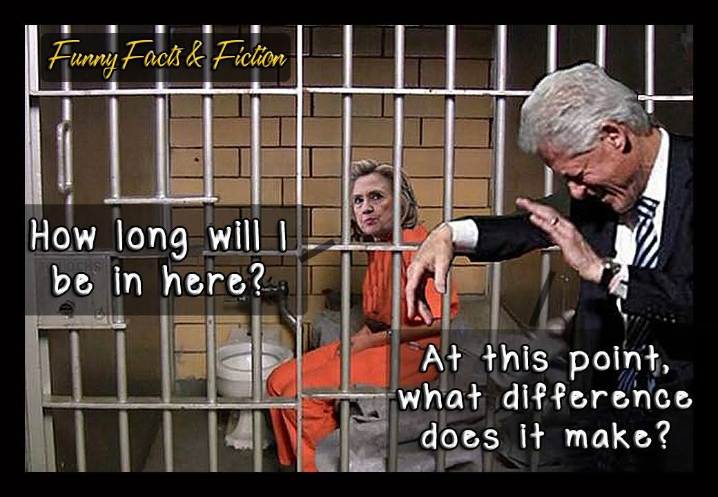 How Long Will I Be In Here Funny Hillary Clinton Picture