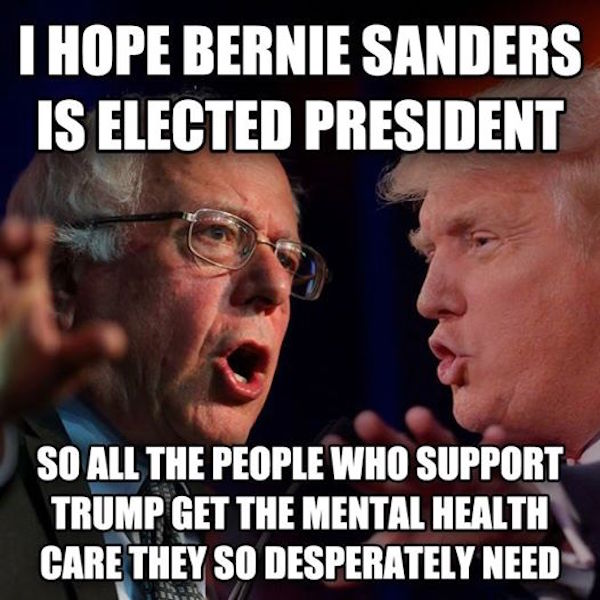 I Hope Bernie Sandres Is Elected President Funny Political Meme Picture 30 most funniest political memes that will make you laugh,Funny Political Memes