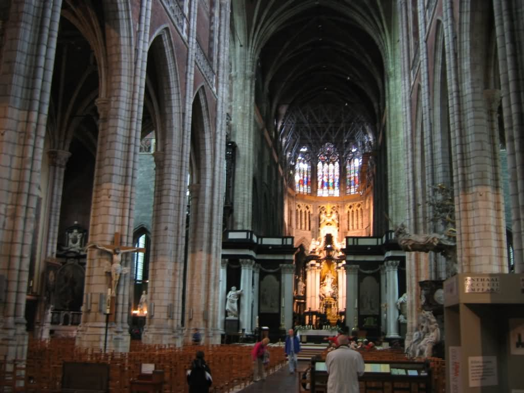 Altar In The Saint Bavo Cathedral In Ghent Belgium