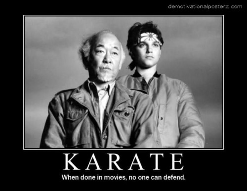 Karate When Done In Movies No One Can Defend Funny Meme Poster 22 very funny karate meme pictures