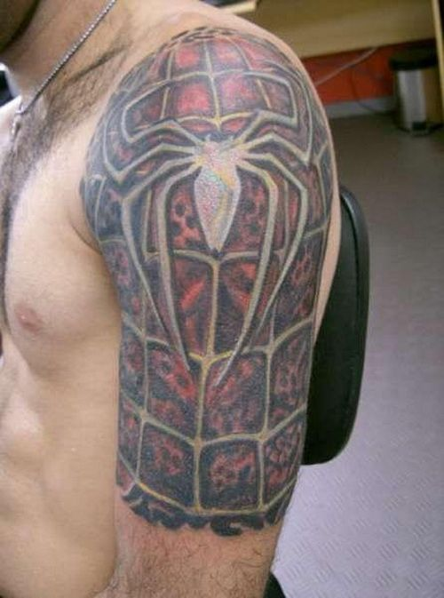 25+ Spiderman Sleeve Tattoos