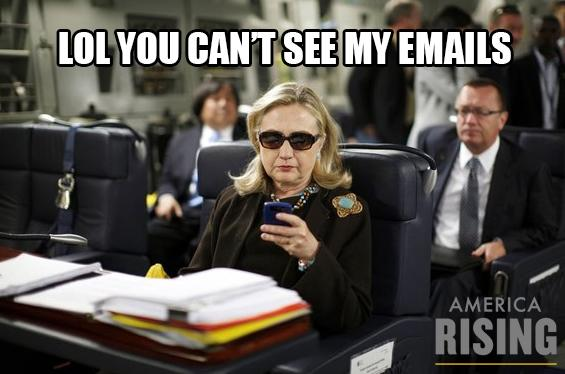 Lol You Can't See My Emails Funny Hillary Clinton Meme Picture