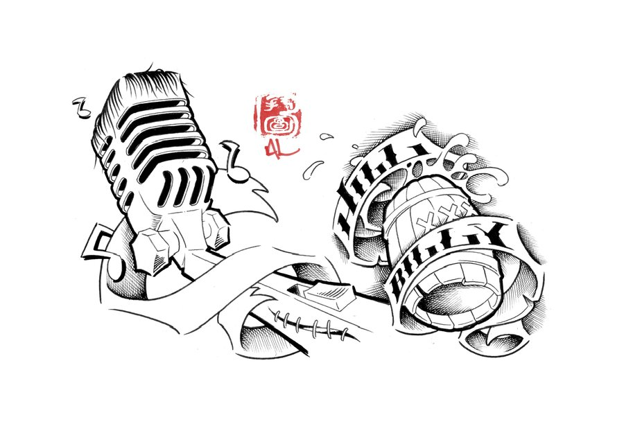 17 Microphone Tattoo Drawings