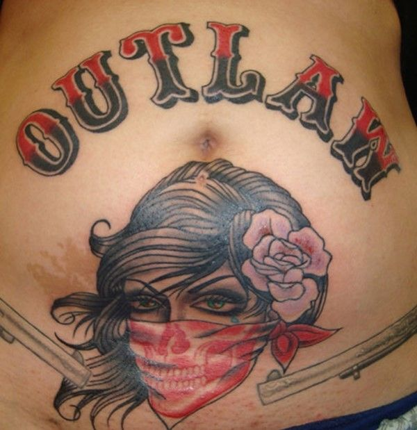 Marked For Life Tattoos And Gangs: 32+ Stomach Letters Tattoo