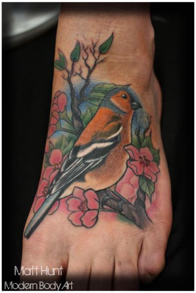 48 famous bird foot tattoos for Realistic bird tattoo