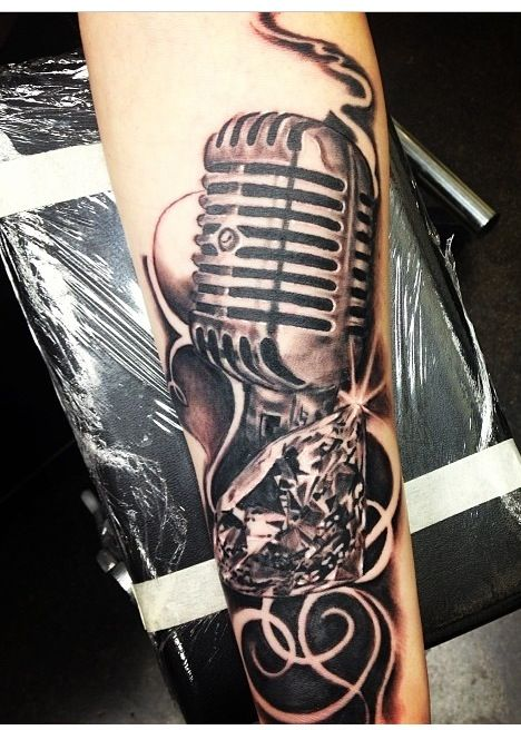 27+ Microphone And Headphone Tattoos | 468 x 656 jpeg 71kB