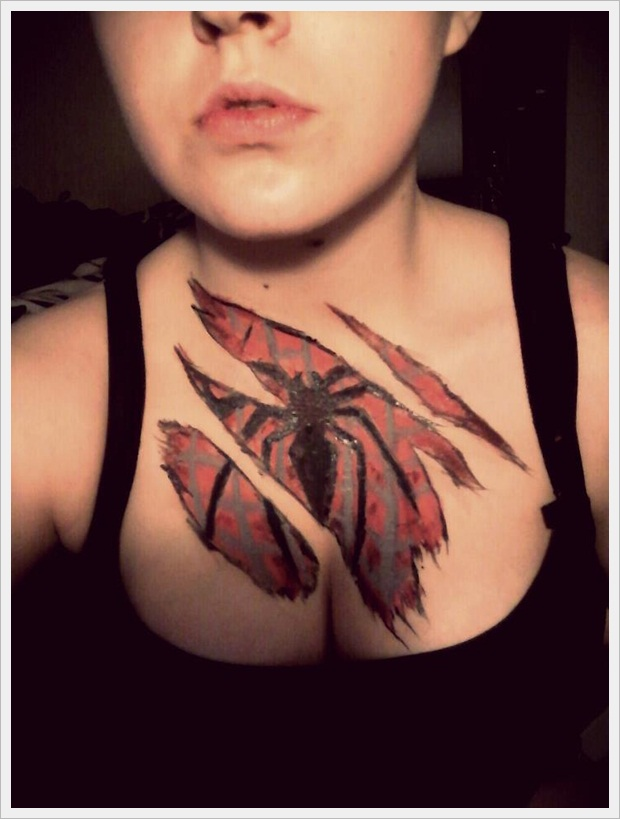 12 Spiderman Tattoos For Girls